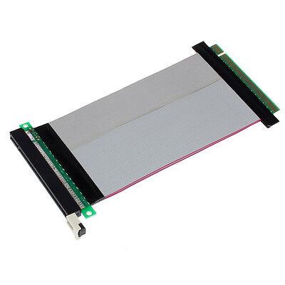 PCI-Express PCI-E 16X Slot Riser Card Flexible Ribbon Extender Extension Cable