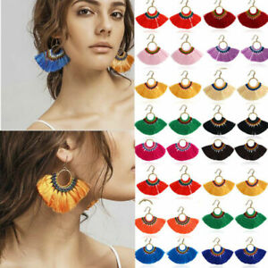 Fashion-Dangle-Tassel-Earrings-Fringe-Bohemian-Women-Long-Jewelry-Boho-Handmade