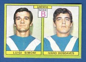FIGURINA CALCIATORI PANINI 1968/69 - RECUPERO - SIMONI/BOSDAVES - BRESCIA