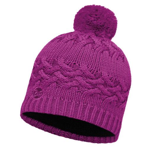 Buff Ski Savva Primaloft Knitted Beanie Bobble Hat Mardi Grape