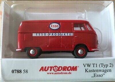 """/""""Kastenwagen Esso/"""" Typ 2 VW T1 WIKING 078858 Spur H0"""
