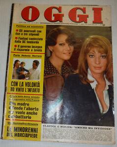 Oggi Vintage Italian Magazine Claudia Cardinale & Monica December 1974 021715R