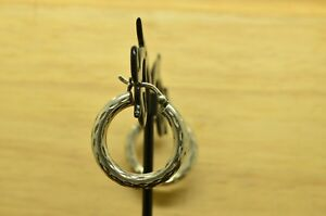 925-STERLING-SILVER-ETCHED-HOLLOW-ROUND-HOOP-EARRINGS-21mm-X21966