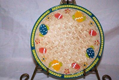 Temptations 2019 Old World Basket Weave Egg Hunt Salad Plate NEW