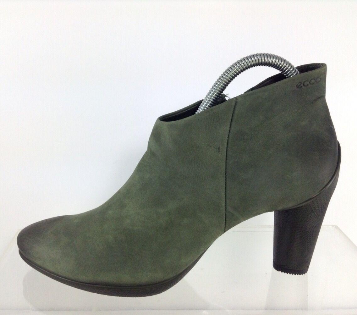 Ecco Donna Green Pelle Ankle Stivali 40