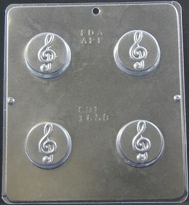 G Clef Musical Note Chocolate Oreo Cookie Mold Musical  1659 NEW