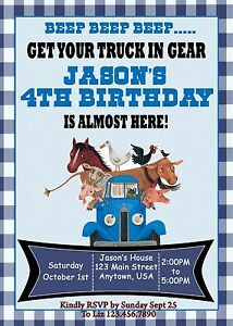Little blue truck birthday invitation invitations trucks little image is loading little blue truck birthday invitation invitations trucks little filmwisefo