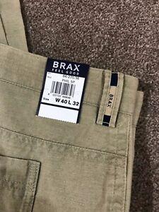 BNWT BRAX BEIGE LINEN BLEND TROUSERS 40 W 32 L COST £90 | eBay