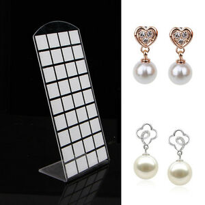 72 Holes Jewelry Earring Show Case Plastic Display Rack Stand Organizer Holder