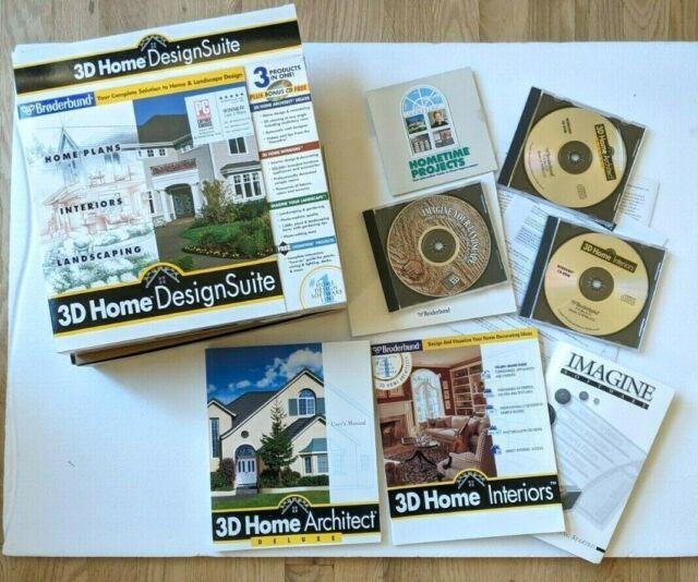 Broderbund 3d Home Architect Deluxe 4 0 Windows Pc Design Landscape W Bonus For Sale Online Ebay