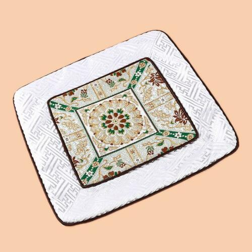 Chinese Style Placemats Patchwork Luxury Vintage Square Dining Table Mat FW