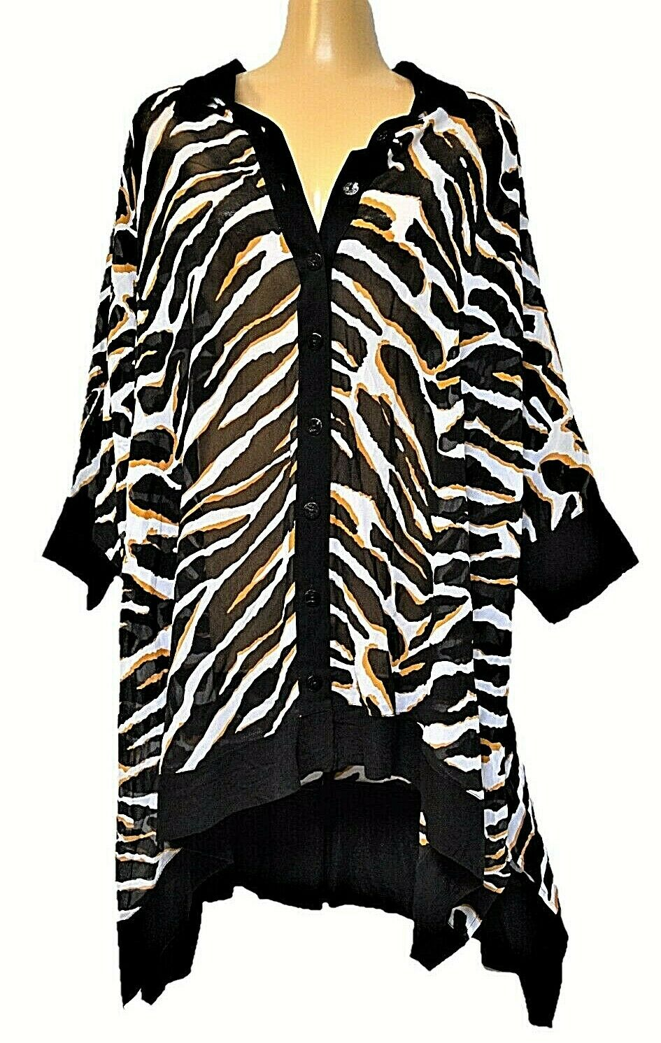 TS top TAKING SHAPE OSFA plus Größe Animal Instinct Shirt semi-sheer NWT rrp