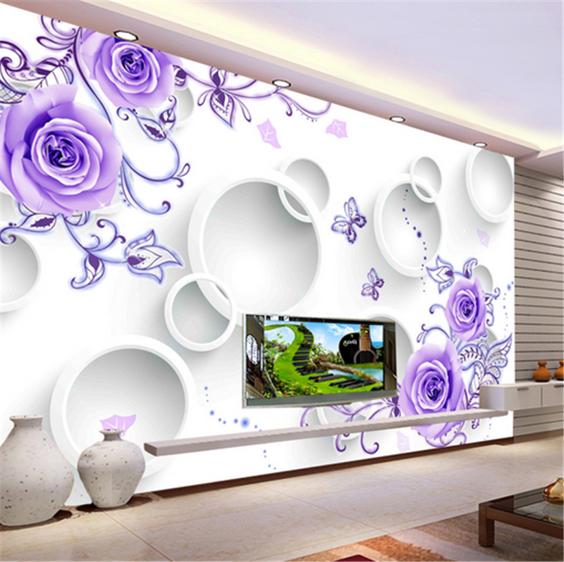 3D lila Flower Ring 88 Wallpaper Mural Paper Wall Print Wallpaper Murals UK