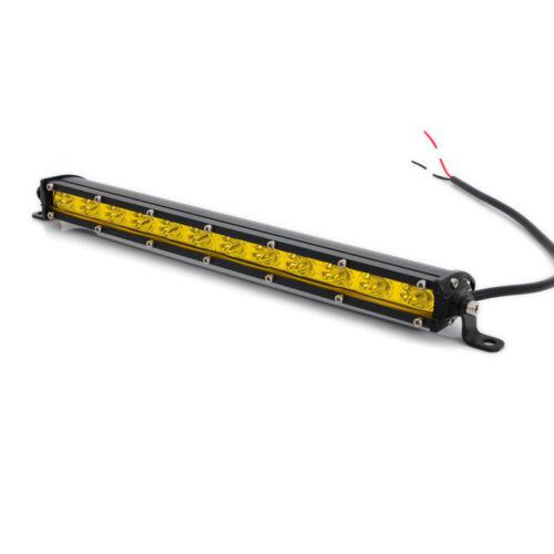 13inch 36W Super SLIM Yellow LED Single Row Offroad Work Light Bar ATV SUV Car