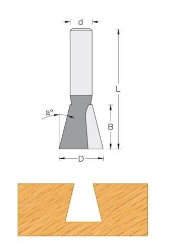 Fraise carbure pour défonceuse Q8 Pour queue d/'aronde