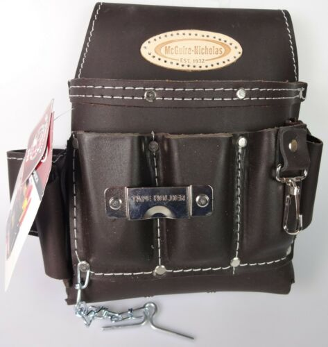 McGuire Nicholas 10 Pocket Electrician's Tool Pouch H-526 Oil Tanned Brown