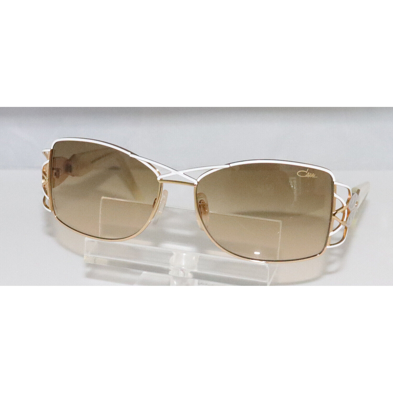 New Women's Cazal 9022 002 White & Gold Sunglasses 59-16-125