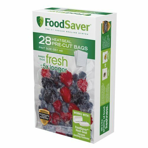 BPA free FoodSaver 28 Pint-sized Bags with unique multi layer construction