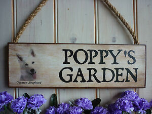 GERMAN-SHEPHERD-OWN-NAME-SIGN-YOUR-OWN-WORDING-HOUSE-PLAQUE-GATE-SIGN-DOG-KENNEL