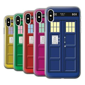 Gel-TPU-Case-for-Apple-iPhone-X-10-Tardis-Phone-Box-Art