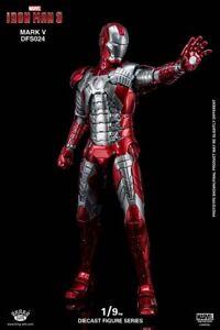 King Arts Dfs024 1/9 Iron Man 3 Mk5 Mark5 figurine sous forme de poupée figurine Action 4897056411197