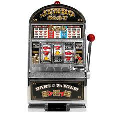 Large Scale Replica Slot Machine Bank w Casino Sound Flashing Jackpot Light