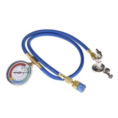 A//C R134A Refrigerant Recharger Hose Low Pressure Gauge Car Air Conditioning US