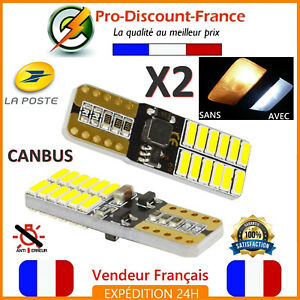 2-x-ampoule-LED-T10-W5W-4014-Blanc-Xenon-Veilleuse-CANBUS-ANTI-ERREUR-VOITURE
