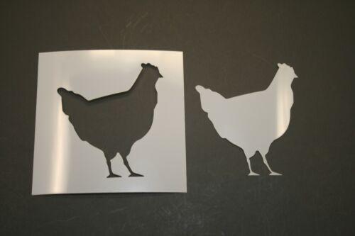 Chicken Reusable Mylar Stencil Art Supplies