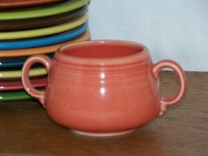 Fiesta-PERSIMMON-Small-Sugar-Bowl-Figure-8-Sugar-Body-Discontinued-Color