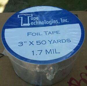 "3 Rolls HVAC Tape Technologies Aluminum Foil Tape 3/"" x 1.7 MIL x 150 ft each"