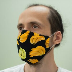 Cool Banana Face Mask Made In Uk Reusable Washable Cotton Virus Cover Face Mask Ebay