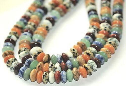 6 mm colorés pierres lentilles strang L3-15
