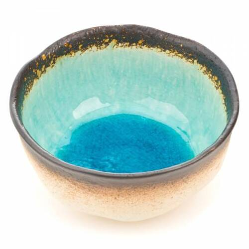 Exotisches Blau Knistern-Glasur Stilvolles Geschirr Obst Sushi Nudel