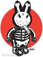 Mini Size Frank Kozik Sticker Decal Bone Bunny KZ48B
