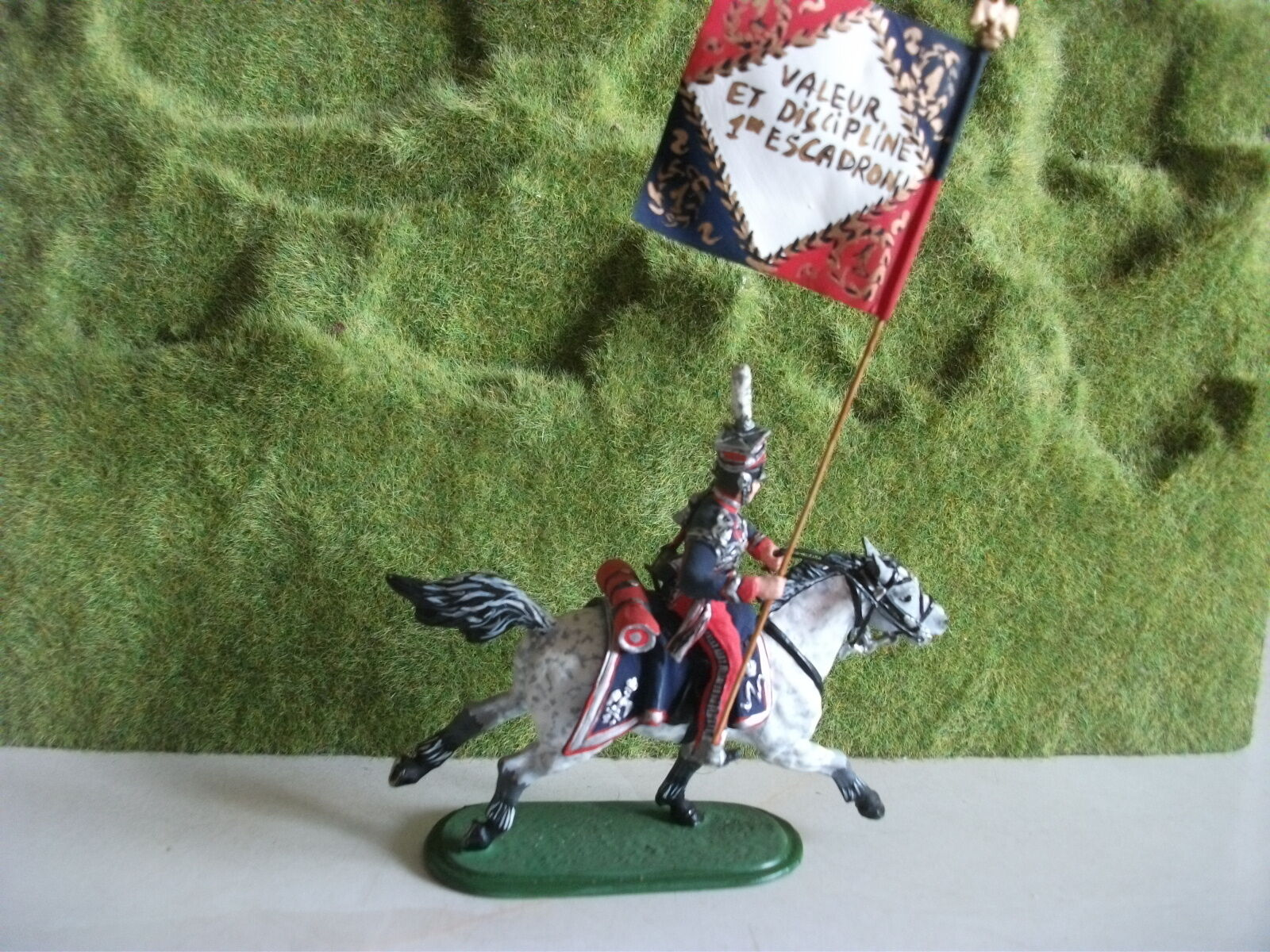 St.Petersburg Napoleonic Museum Quality Niena Mounted FRENCH trooper WITH FLAG