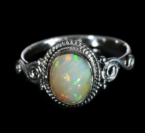 Details about  /Handmade Silver Statement Ring 100/%Natural Ethiopian Fire Opal,Gift For Her #373