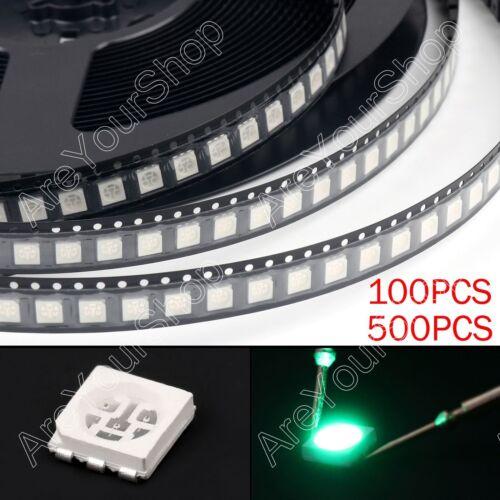 5050 LED SMD SMT PLCC-6 Rot Grün Blau Gelb Weiß 5Colours Licht Leuchtdioden AH