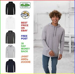 MENS-AWDis-TOODIE-100-Cotton-T-Shirt-Hoodie-Softfeel-Lightweight-Tee-5-COLOURS