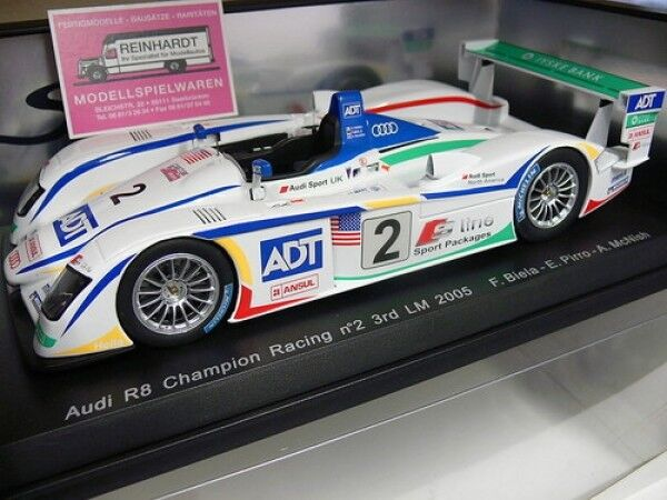 1 18 SPARK AUDI r8 Champion Racing  2 3rd LM'05 Biela