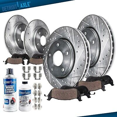 Front Rear Brake Discs Rotors and Ceramic Pads For 2008-2013 Toyota Highlander