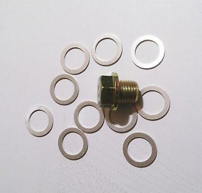 Daewoo  14mm Oil Pan Drain Plug   Gasket GM sump washer SET of 10