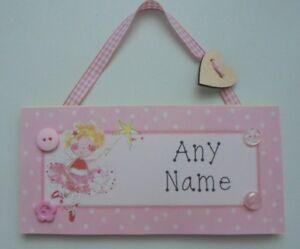 Fairy Princess Personalised Childrens Kids Name Door