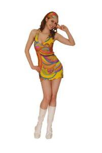 Deguisement Femme Hippie Sexy Robe Costume Annees 60 Disco Carnaval Mardi Gras Ebay