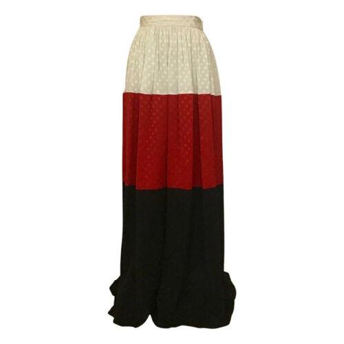 VTG Michaele Vollbracht 1980s Red Black White Silk