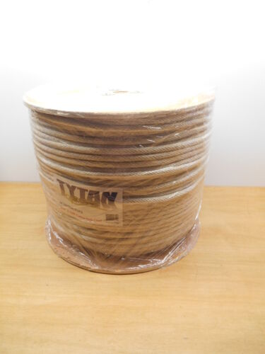 "1200' SPOOL TYTAN #10 516"" x 1200' COTTON SOLID BRAID SASH ROPE, NEW"