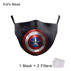 Captain America Mund- und Nasenbedeckung Community Maske Mundschutz+PM2.5 Filter - Schwabach, Deutschland - Captain America Mund- und Nasenbedeckung Community Maske Mundschutz+PM2.5 Filter - Schwabach, Deutschland
