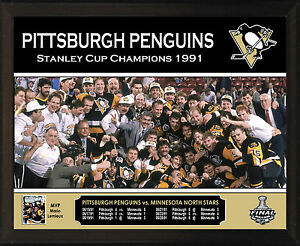 Image Is Loading PITTSBURGH PENGUINS 1991 Stanley Cup Champions 8x10 034