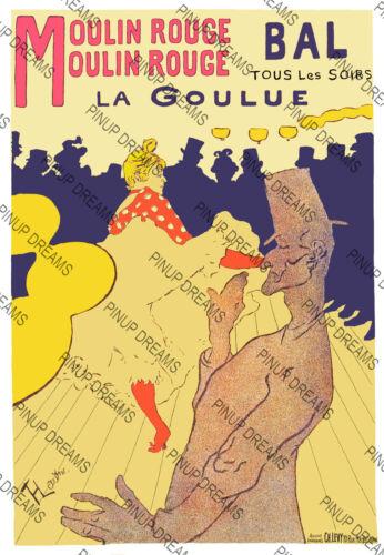 """Classic Vintage Retro Burlesque Poster /""""Parisiana/""""re-print Paris Moulin Rouge"""