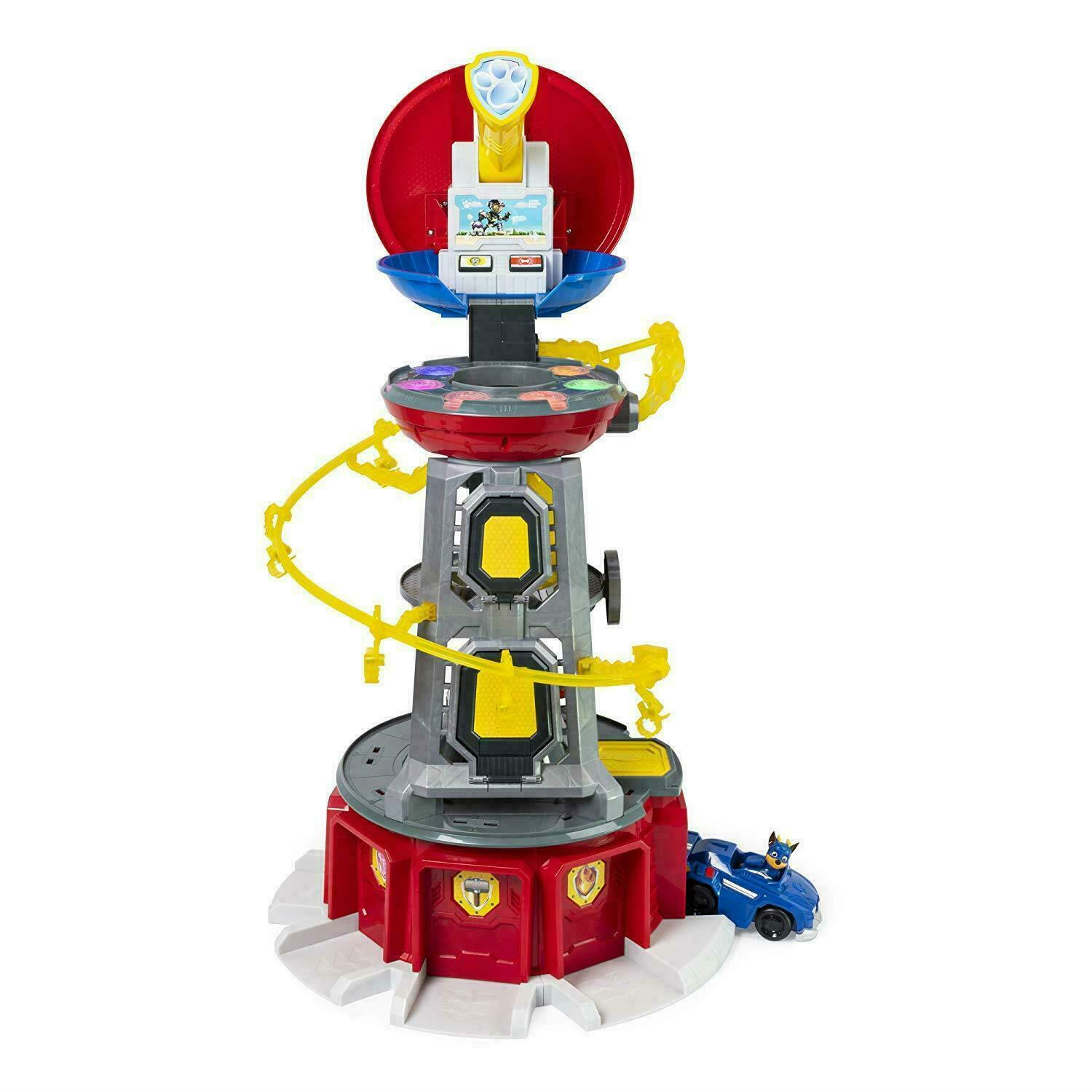 Paw Paw Paw Patrol Mighty TOYS kids gift Super Paws Lookout Tower Playset Light Sound UK 720
